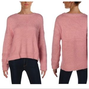 BELTAINE Mixed Stitch Long Sleeve Crewneck Sweater